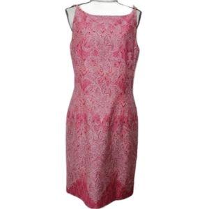 Liz Claiborne pink Easter sheath dress